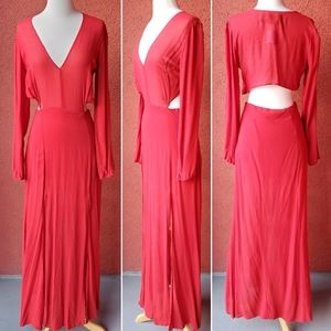 Reformation Cut-Out Maxi Dress